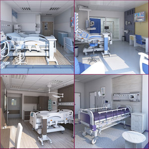 3D 1 medical patient room model