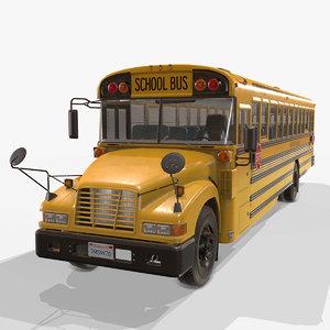 american school bus - 3D model