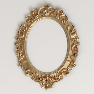 3D oval carved frame