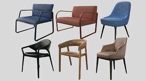 pbr archviz chairs prb 3D model