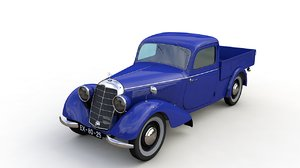 3D model mercedes 170v pickup 1947