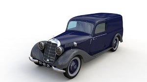mercedes panel van 1952 3D model