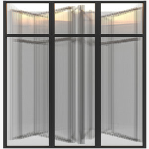 corrugated glass 3D model
