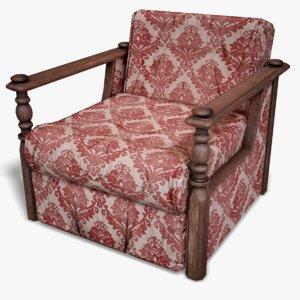 3D ready armchair model