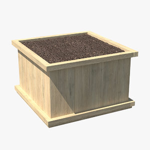 wooden box soil model