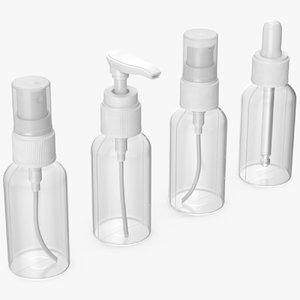 cosmetic bottles 50 ml 3D model