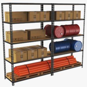 3D real warehouse rack