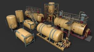 liquid storage pack industrial model