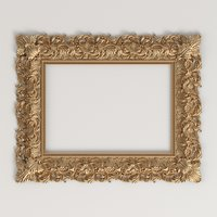 Classic style carved frame for CNC  Rm 030