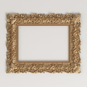 3D classic style carved frame
