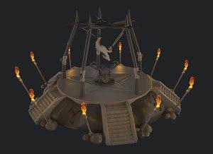 stone altar 3D model