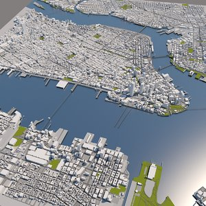3D manhattan gis model