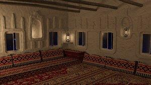 saudi old interior 3D model