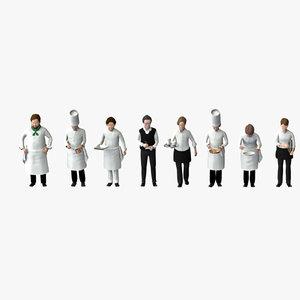 worker 03 cook model