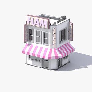3D model stylized shop