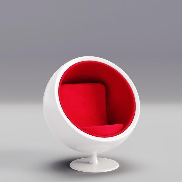 Chair Ball Cartoon Home Furniture 3d, Chair Tech Furniture