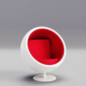 chair ball cartoon home furniture 3D model