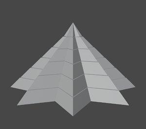 3D pyramidal structure 8 corners