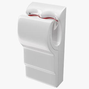 3D velocity vertical hand dryer model
