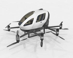 3D drone taxi model