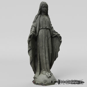 3D statue mary