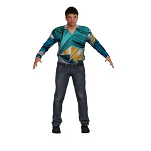 3D rigged male model