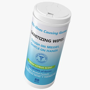 sanitizing wipes 80 count model