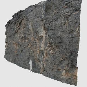 3D scan rock wall