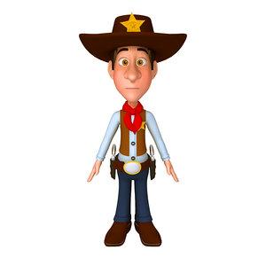 cowboy cartoon 3D
