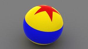 3D model luxo ball