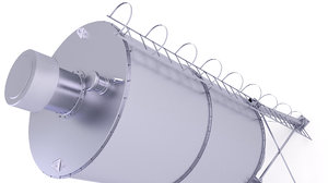 3D model silo cement