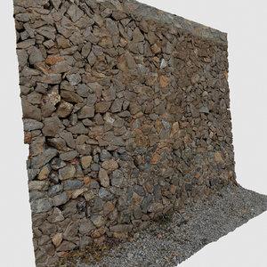 3D scan rock wall model