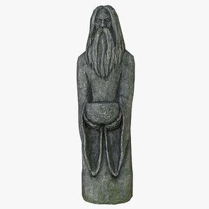 celtic idol 07 3D model
