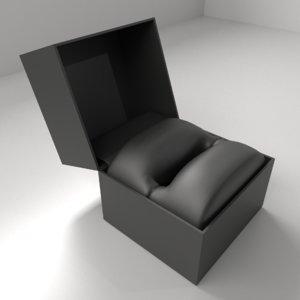 3D model small satin ring box