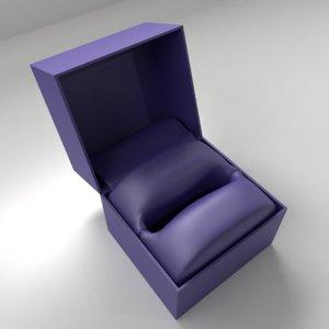 3D model big satin ring box