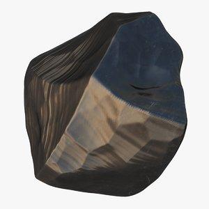 obsidian stone 02 3D model