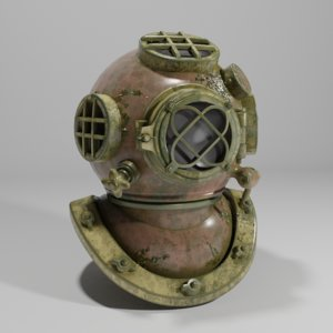 old diving helmet 3D model