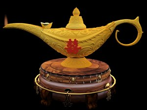 chinese magic lamp yuanbao model