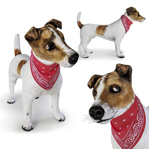 dog jack russell terrier 3D