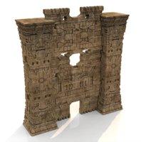 Aztec temple portal