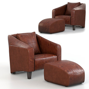 chair puf 3D model