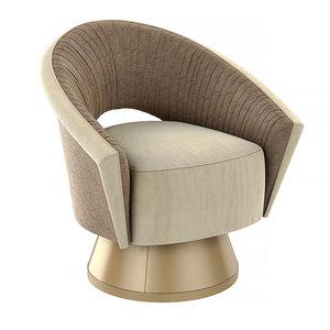 3D com-pleat caracole chair