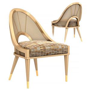 3D model spoke caracole chair