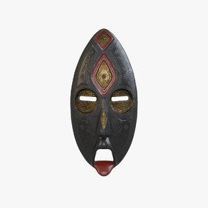 african mask v1 3D model