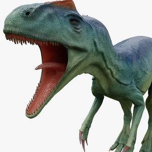 3D model dinosaur allosaurus