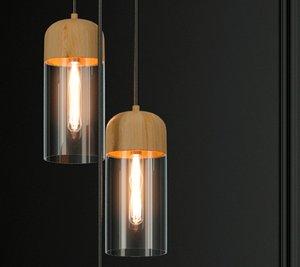 3D model hanging lamp loft house