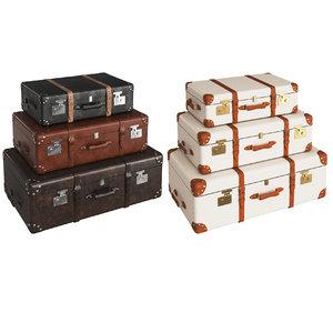 retro suitcases model