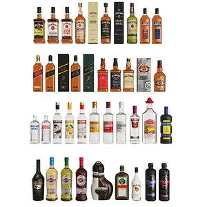 set alcohol bar 3D model