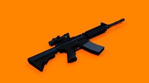 m4-acog low-poly assault riffle 3D model