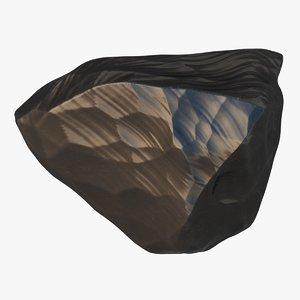 3D obsidian stone 03